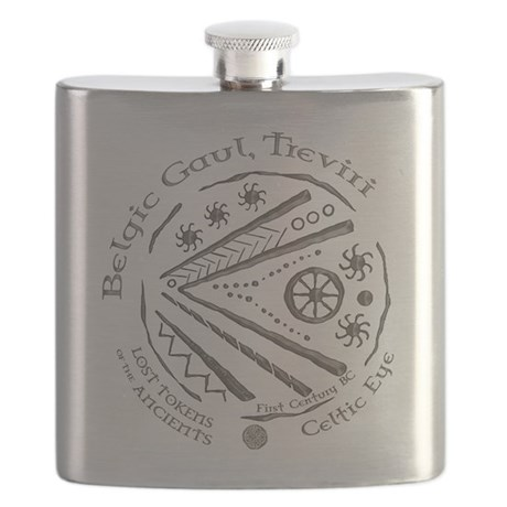 Celtic Eye Coin Flask