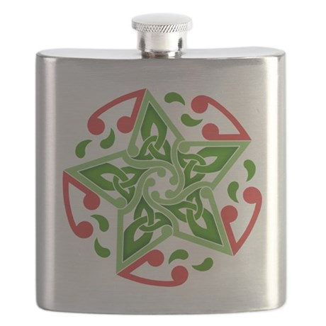 Celtic Christmas Star Flask