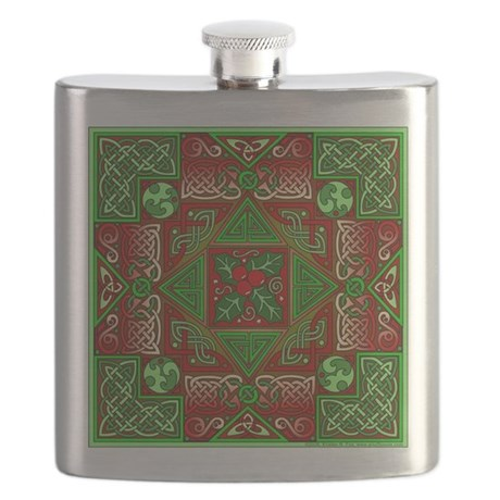 Celtic Labyrinth Holly Flask