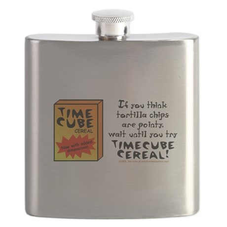 Time Cube Cereal Flask