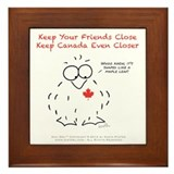 "Niki Owl ""Keep Canada Closer"" Framed Til"
