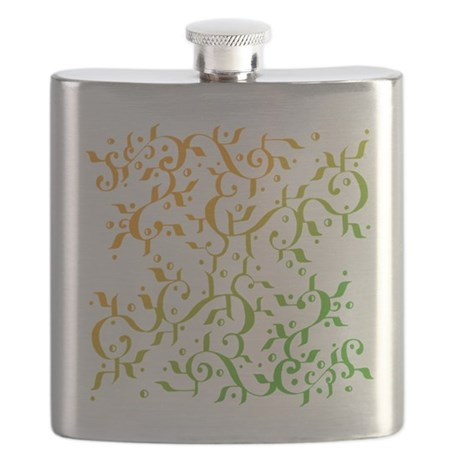 Abstract Arabic Design Flask