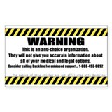 WARNING Sticker (10 Pack)