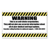 Warning Decal