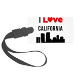 I Love California.png Large Luggage Tag