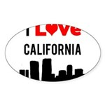 I Love California.png Sticker (Oval)