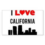 I Love California.png Sticker (Rectangle)