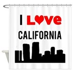 I Love California.png Shower Curtain