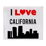 I Love California.png Throw Blanket