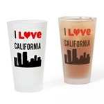 I Love California.png Drinking Glass