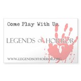 Legends of Horror Bloody Hand  Aufkleber