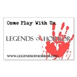 Legends of Horror Bloody Hand Decal