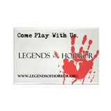 Legends of Horror Bloody Hand Rectangle Magnet
