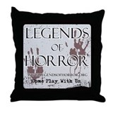 Legends of Horror Logo Throw Pillow