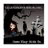 Legends of Horror AlorikaTile Coaster