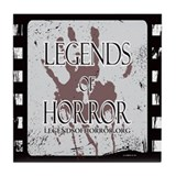 Legends of Horror Logo Tile Coaster