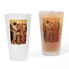 Jesus Raptor Drinking Glass
