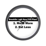 Breakthrough New Diet Plan Wall Clock