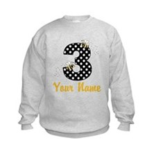 3rd Birthday Bumble Bee Sweatshirt