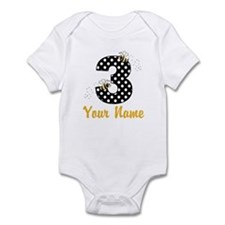 3rd Birthday Bumble Bee Infant Bodysuit