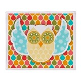 Owl Boheme White Throw Blanket
