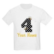 4th Birthday Bumble Bee T-Shirt