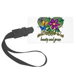 Butterflymotherinlaw.png Large Luggage Tag