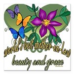 Butterflymotherinlaw.png Square Car Magnet 3