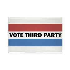 Vote Third Party Rectangle Magnet