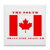 The North Shall Rise Again Canada Pride Tile Coast