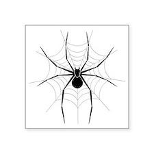 """Spider Web Square Sticker 3"""" x 3"""""""