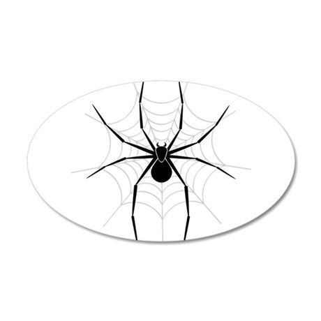 Spider Web 20x12 Oval Wall Decal