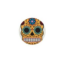 Sugar Skull Mini Button