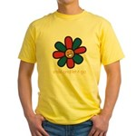 Smile and Let It Go Yellow T-Shirt