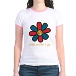 Smile and Let It Go Jr. Ringer T-Shirt