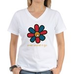 Smile and Let It Go Women's V-Neck T-Shirt