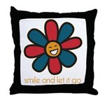 Smile and Let It Go Throw Pillow