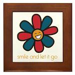 Smile and Let It Go Framed Tile