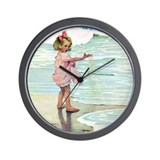 Child at the beach Wall Clock