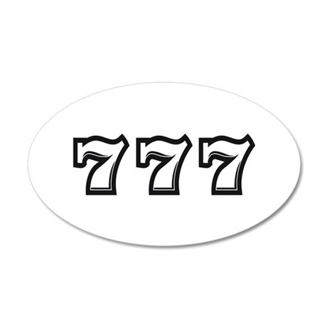 Triple 7s 35x21 Oval Wall Decal