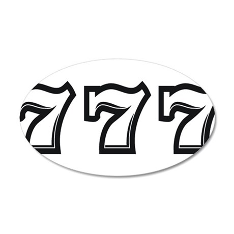 Triple 7s 20x12 Oval Wall Decal