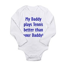 Cute Tennis baby Long Sleeve Infant Bodysuit