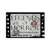 Legends of Horror Logo Rectangle Magnet