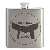 Custom Martial Arts Black Belt Flask