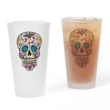 Sugar Skull Drinking Glass