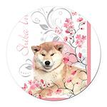 blossom.png Round Car Magnet