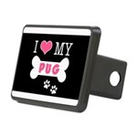 dogboneILOVEMY.png Rectangular Hitch Cover