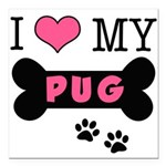 dogboneILOVEMY.png Square Car Magnet 3