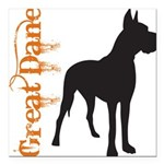grungesilhouette.png Square Car Magnet 3