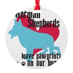pawprints.png Round Ornament
